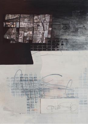 """lagos"" mixed media, 70x50cm, 2015 ©DT"